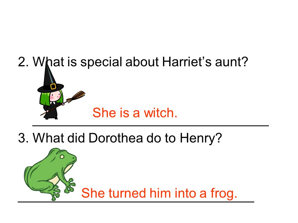 2. What is special about Harriet's aunt