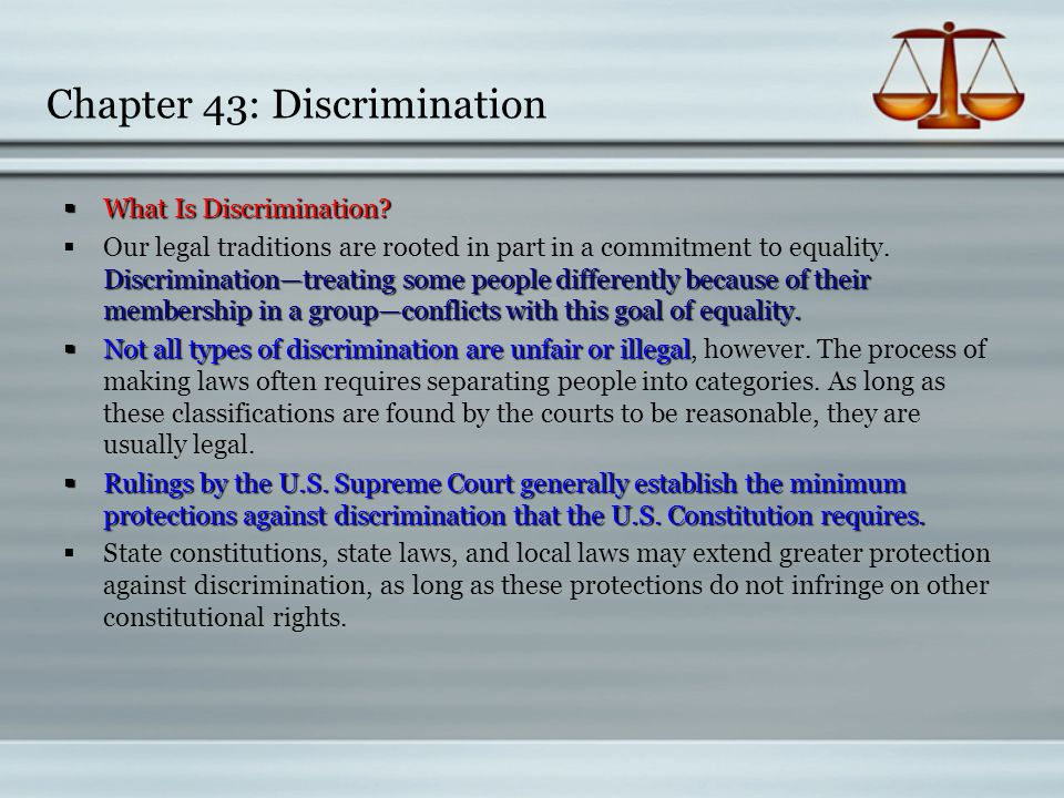Chapter 43: Discrimination