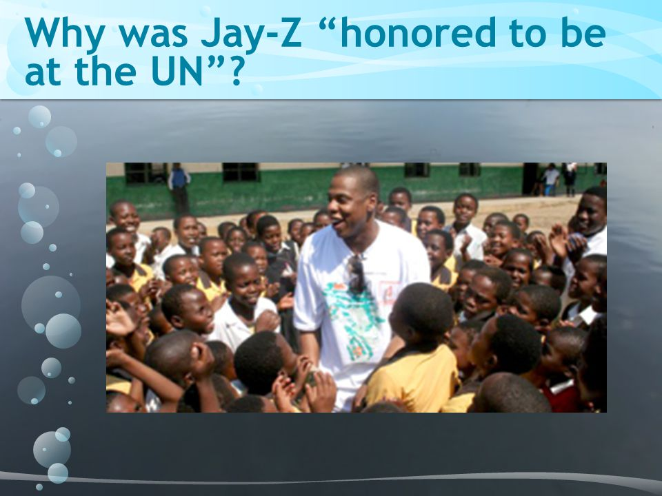 Why was Jay-Z honored to be at the UN