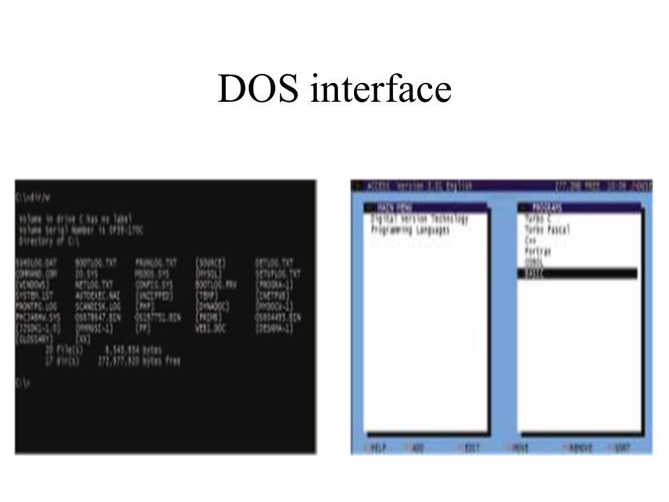 DOS interface