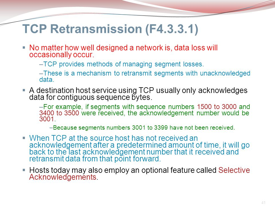 TCP Retransmission (F4.3.3.1)
