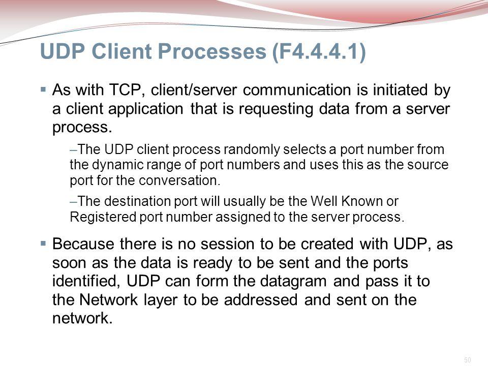 UDP Client Processes (F4.4.4.1)