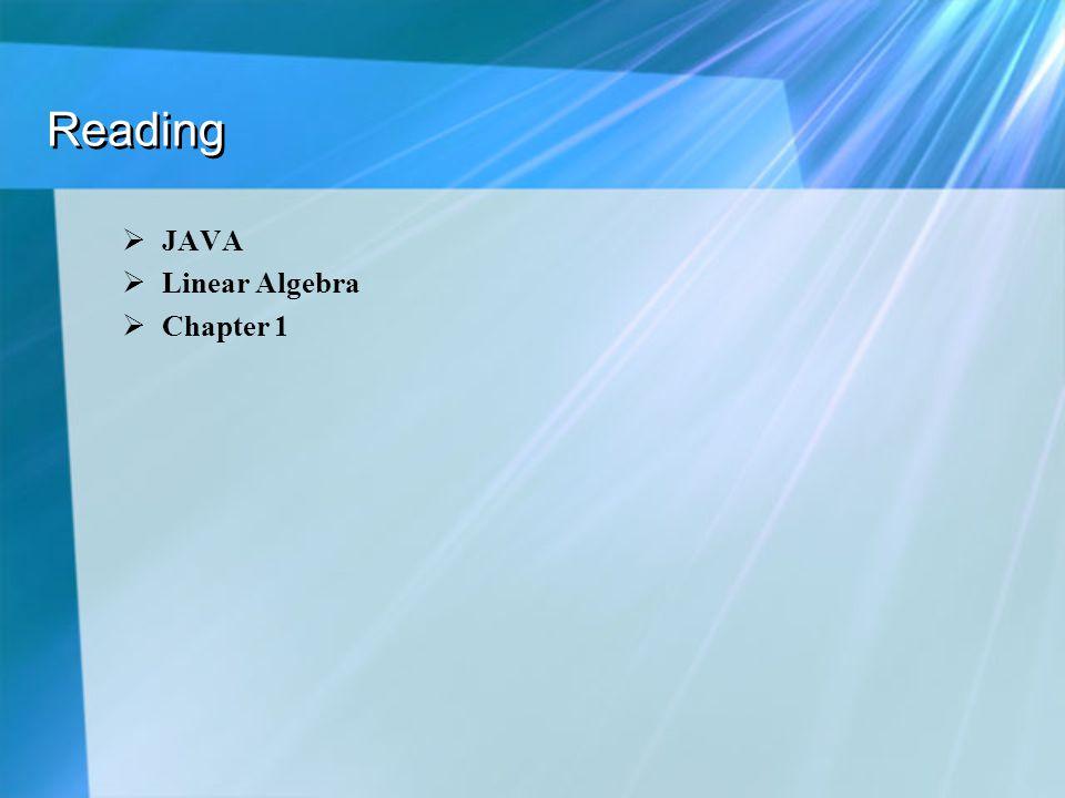 Reading JAVA Linear Algebra Chapter 1