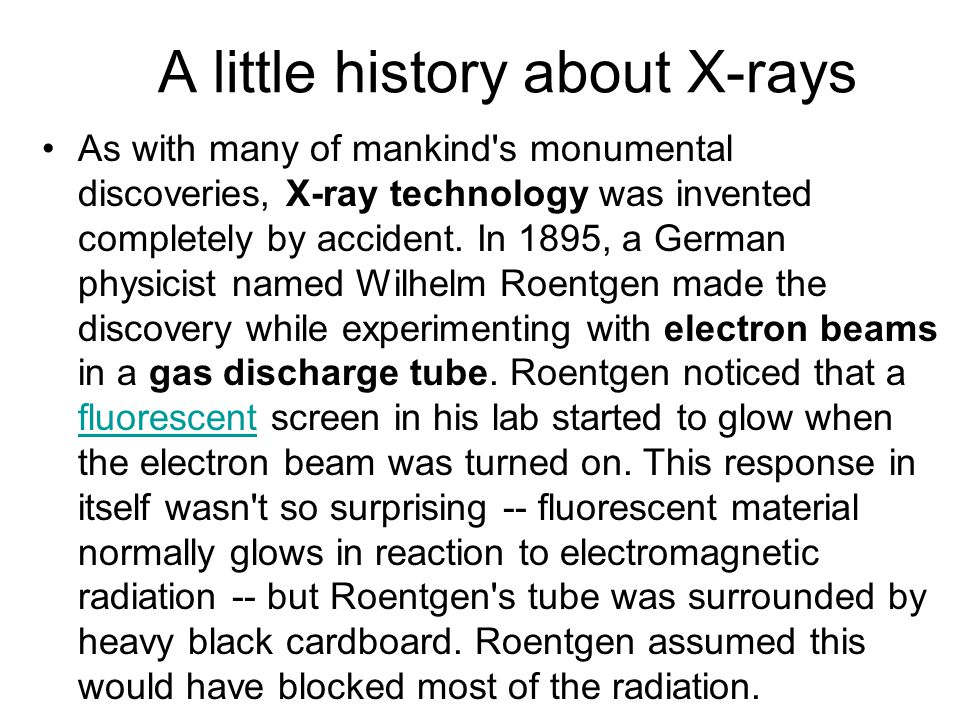 A little history about X-rays