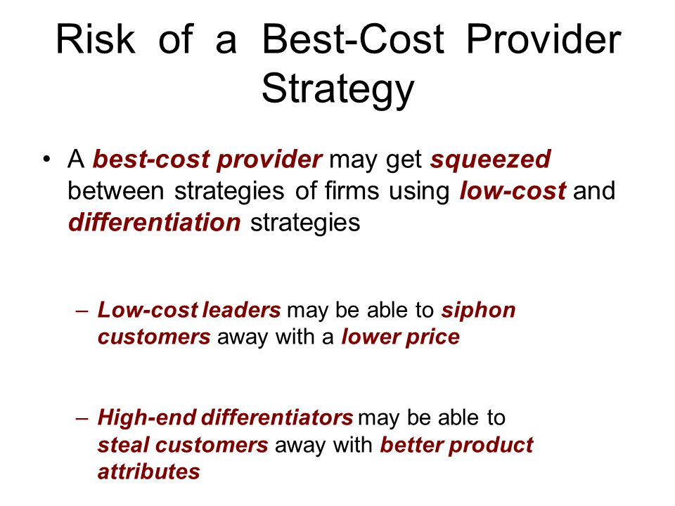 Risk of a Best-Cost Provider Strategy