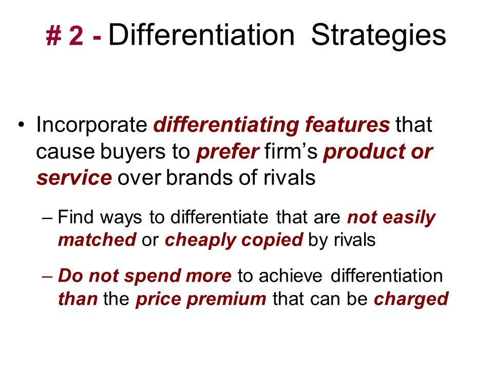 # 2 - Differentiation Strategies
