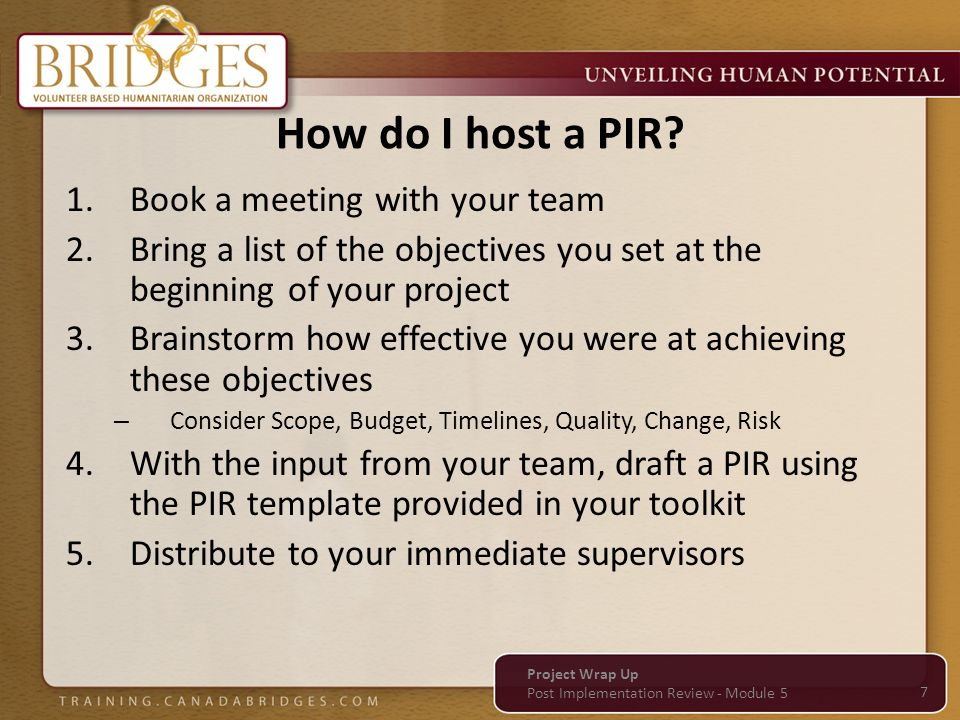 How do I host a PIR Book a meeting with your team