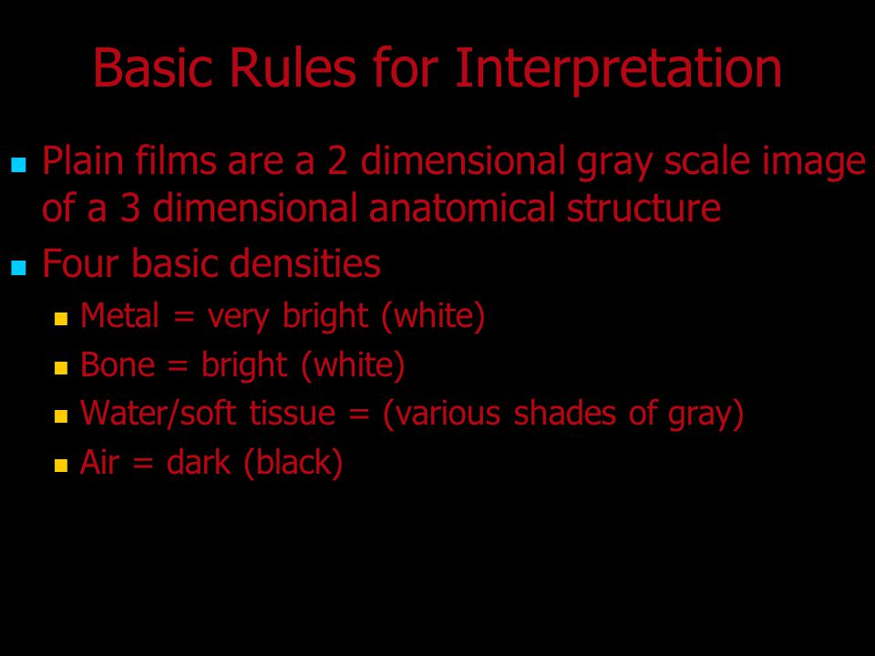 Basic Rules for Interpretation
