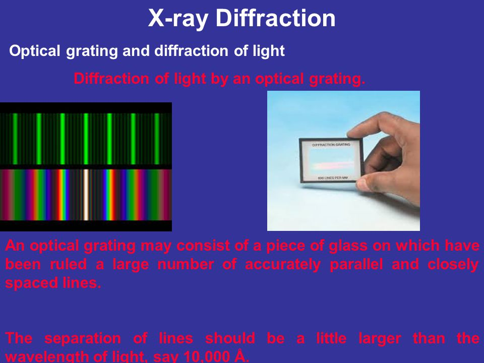 X-ray Diffraction Optical grating and diffraction of light