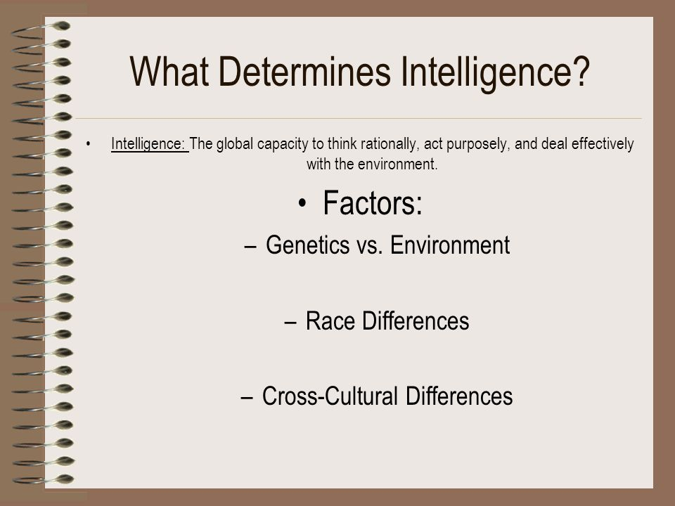 What Determines Intelligence