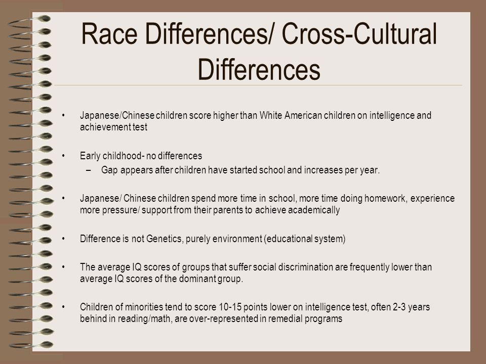 Race Differences/ Cross-Cultural Differences