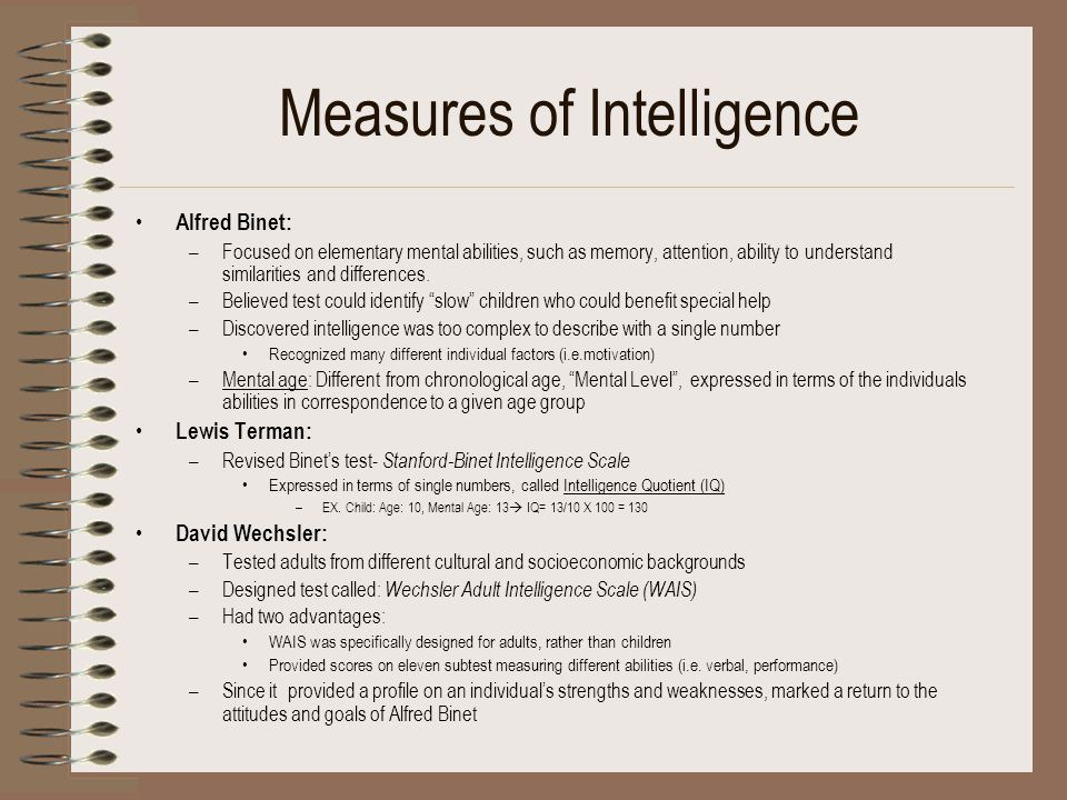 Measures of Intelligence