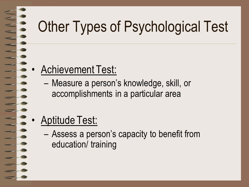 Other Types of Psychological Test