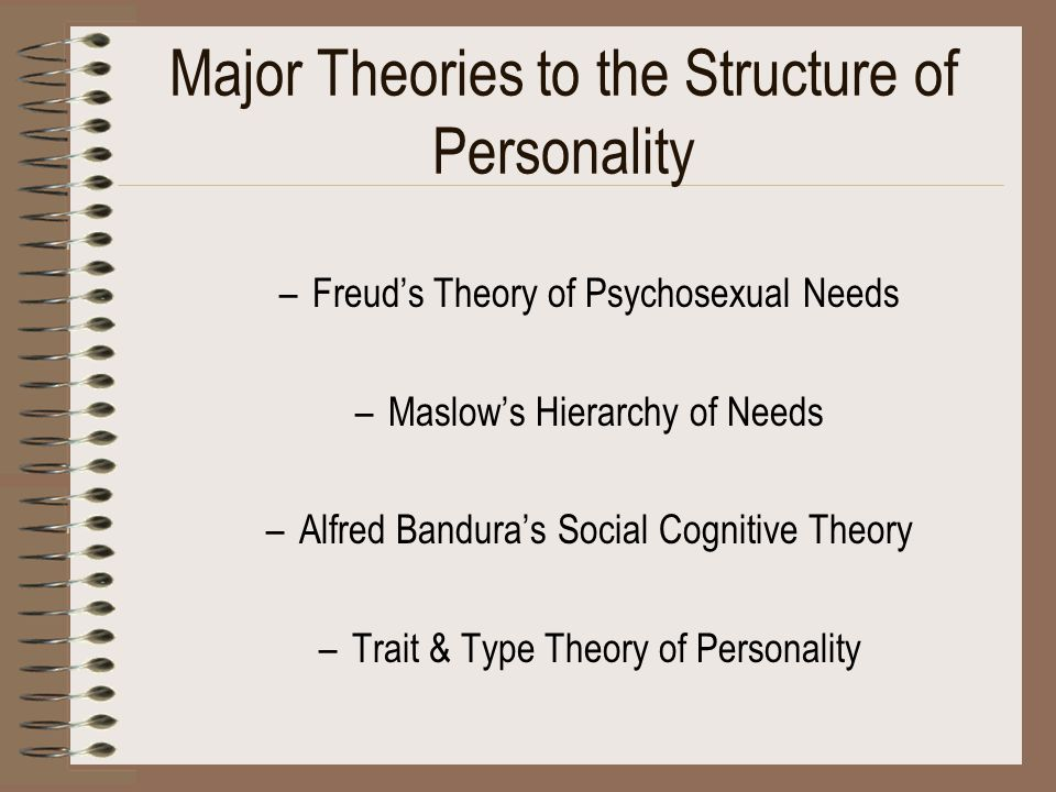 Major Theories to the Structure of Personality