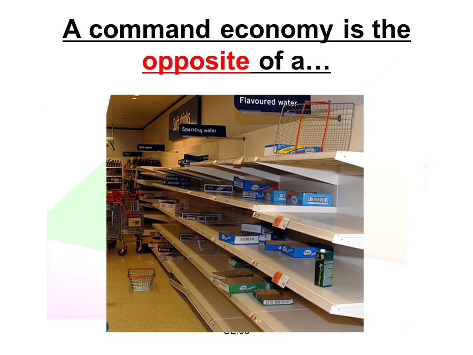A command economy is the opposite of a…