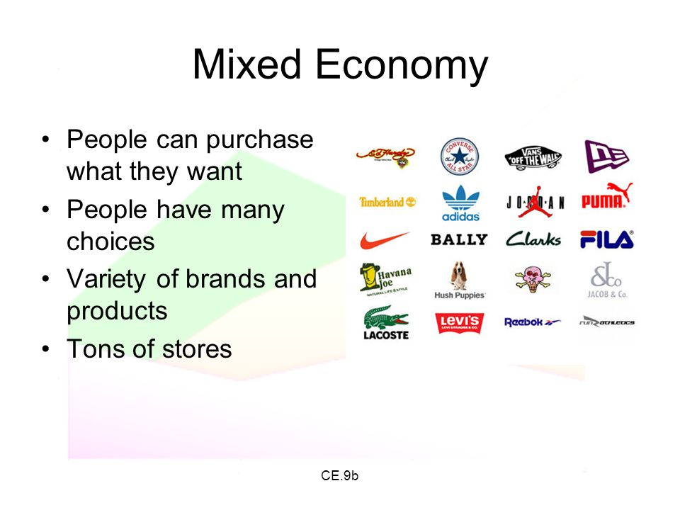 Mixed Economy People can purchase what they want