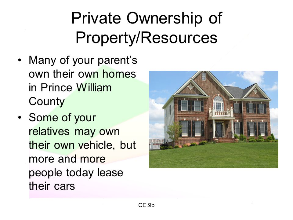 Private Ownership of Property/Resources