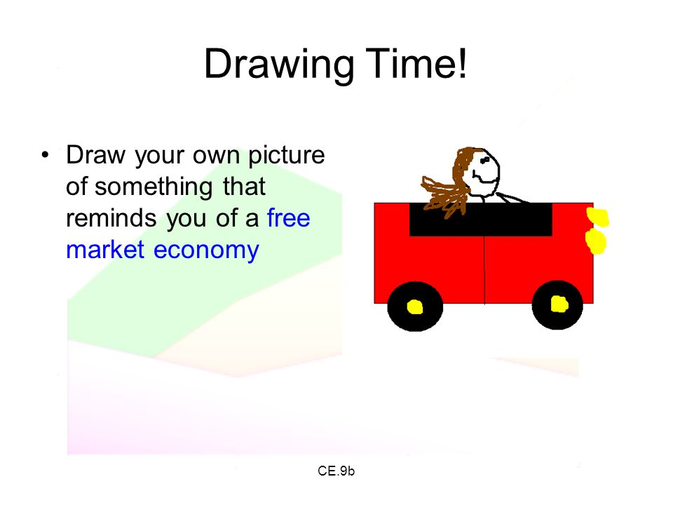 Drawing Time! Draw your own picture of something that reminds you of a free market economy CE.9b