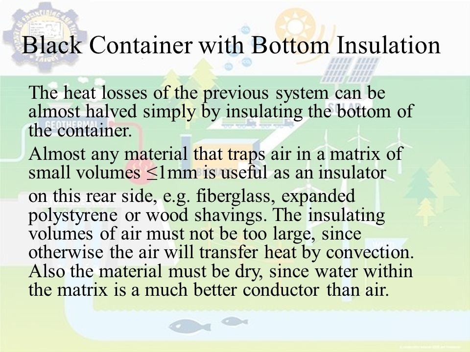 Black Container with Bottom Insulation
