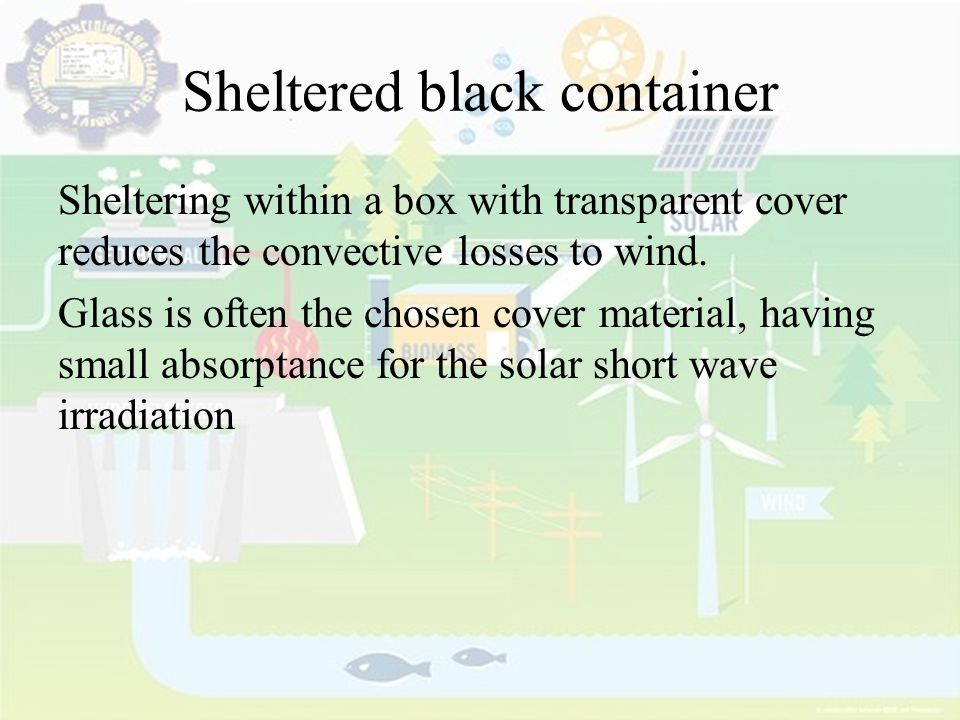 Sheltered black container