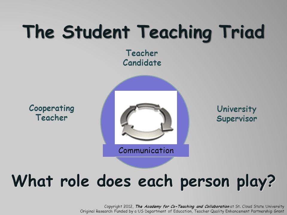 The Student Teaching Triad