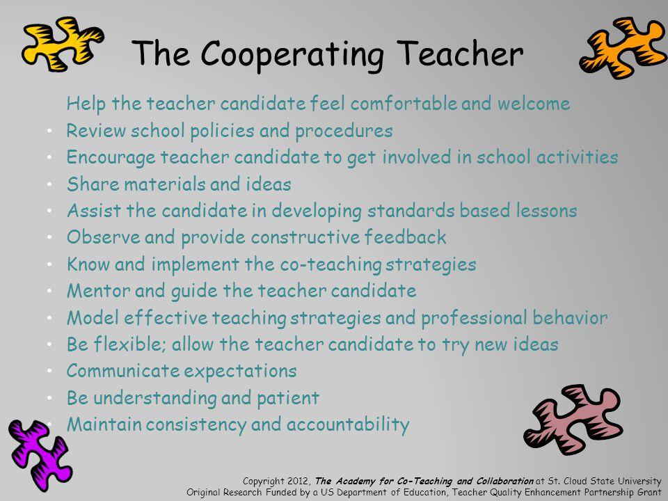 The Cooperating Teacher