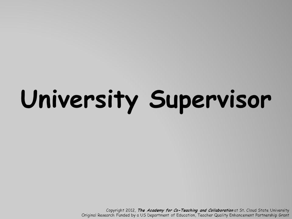 University Supervisor