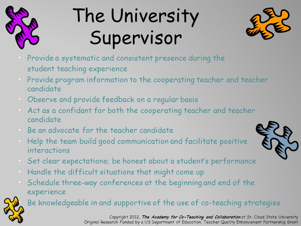 The University Supervisor