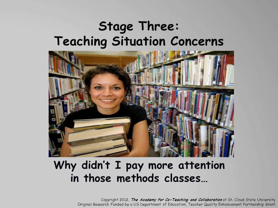 Stage Three: Teaching Situation Concerns