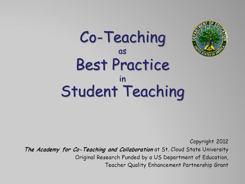 Co-Teaching as Best Practice in Student Teaching