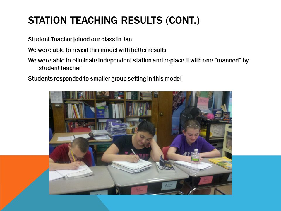 Station Teaching Results (cont.)