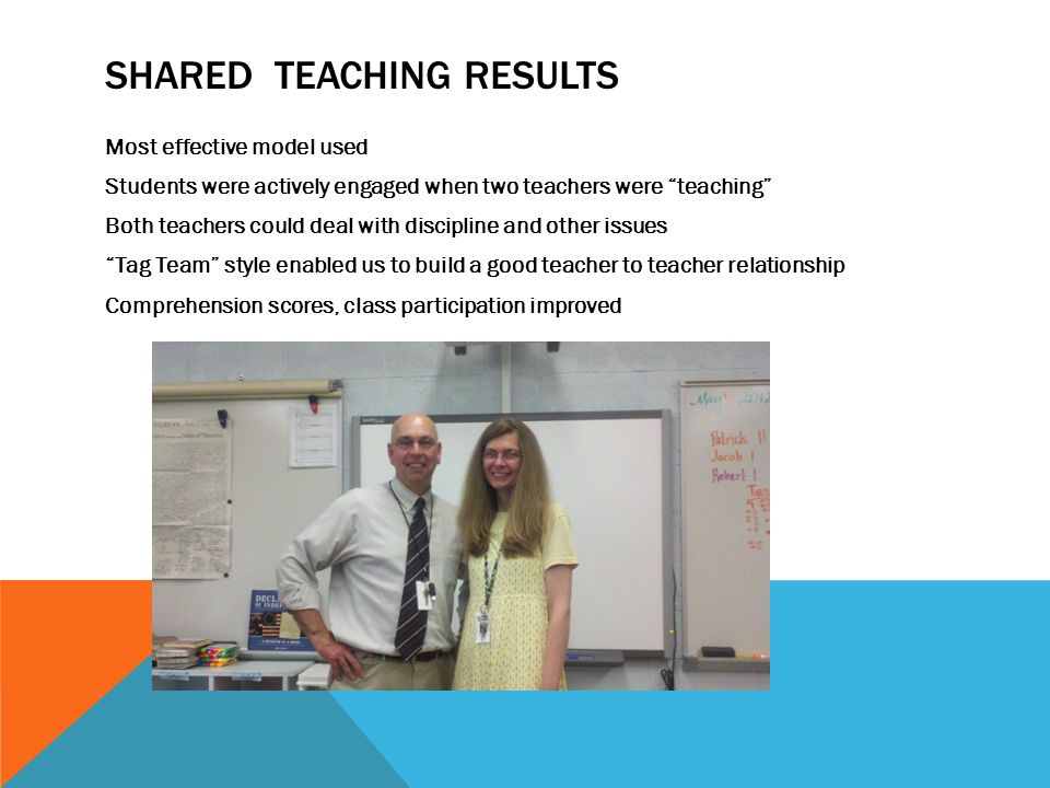 Shared Teaching Results