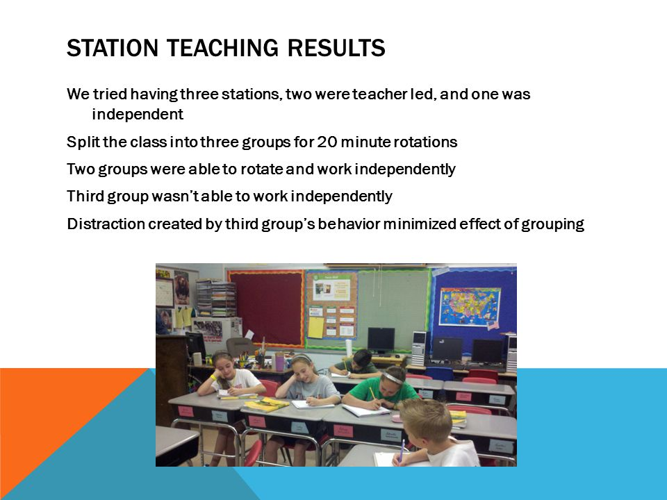 Station Teaching Results