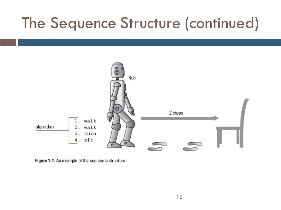 The Sequence Structure (continued)