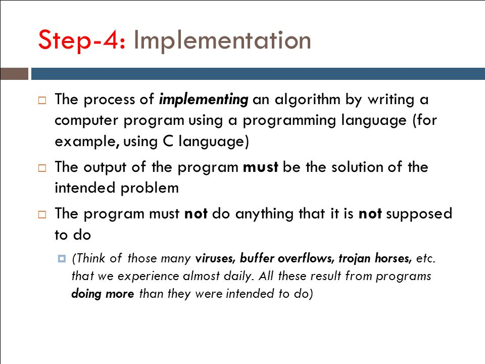 Step-4: Implementation