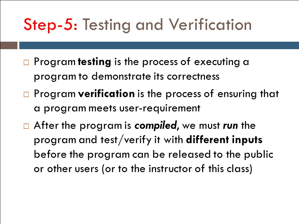 Step-5: Testing and Verification