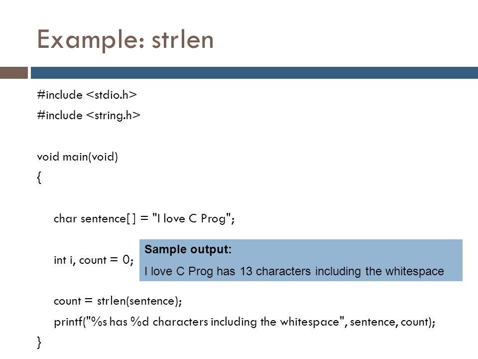 Example: strlen