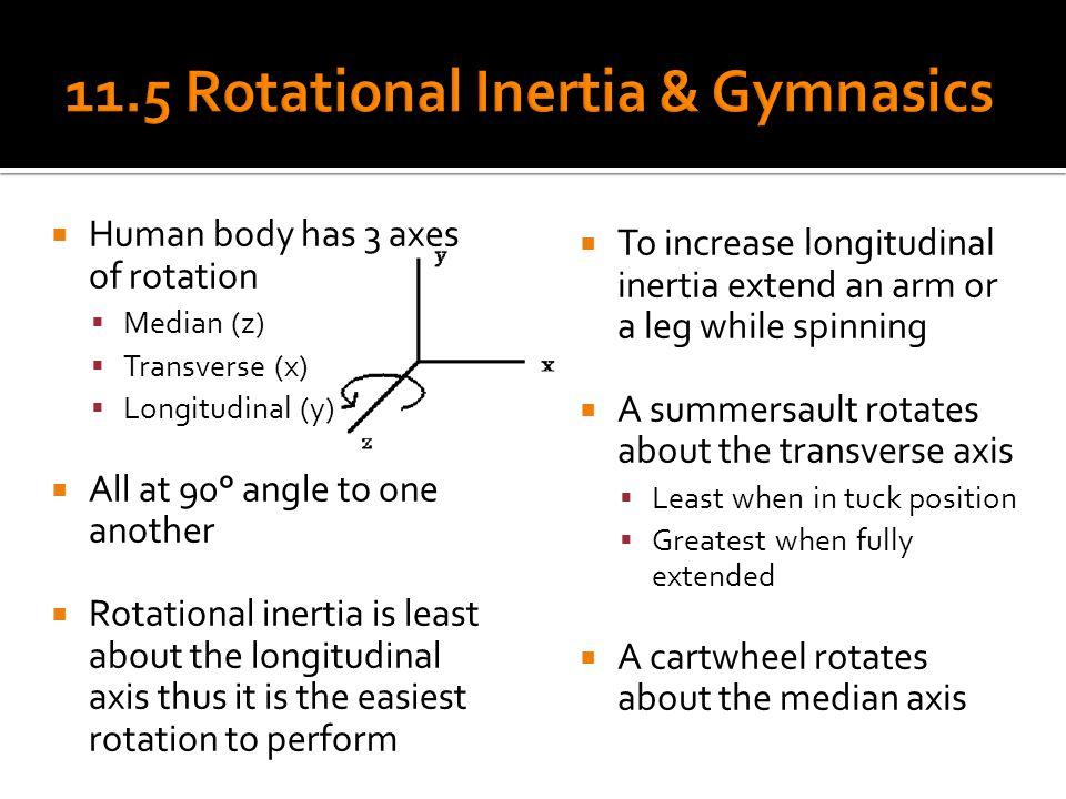 11.5 Rotational Inertia & Gymnasics