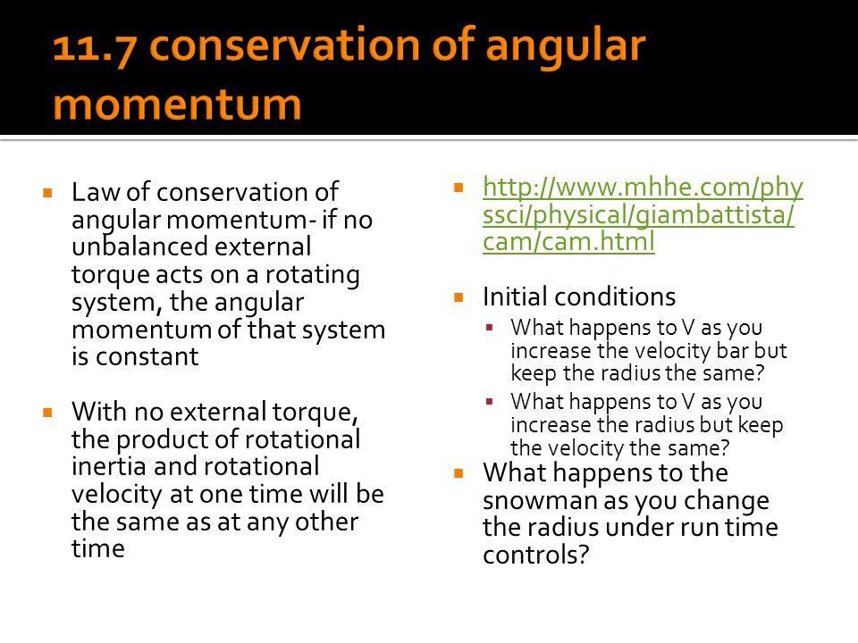 11.7 conservation of angular momentum