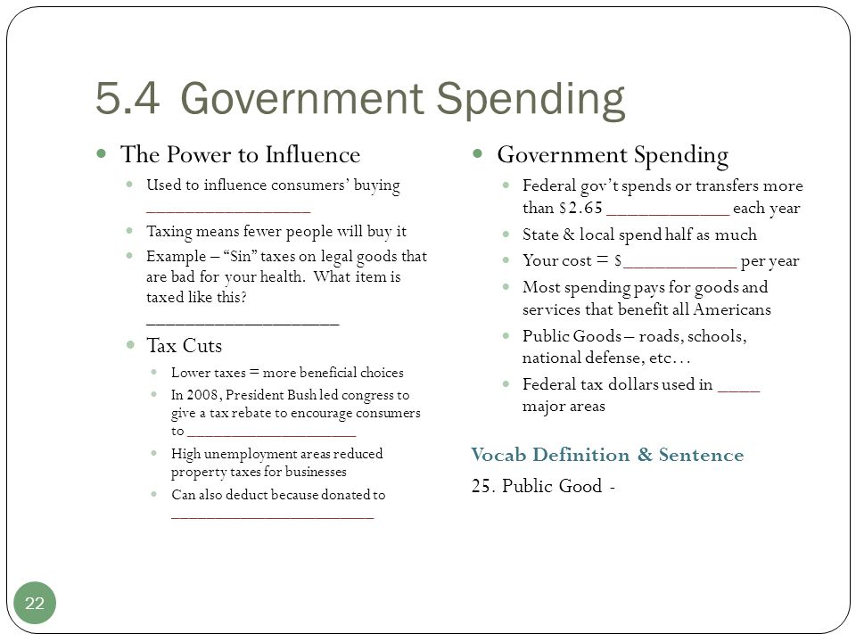 5.4 Government Spending The Power to Influence Government Spending