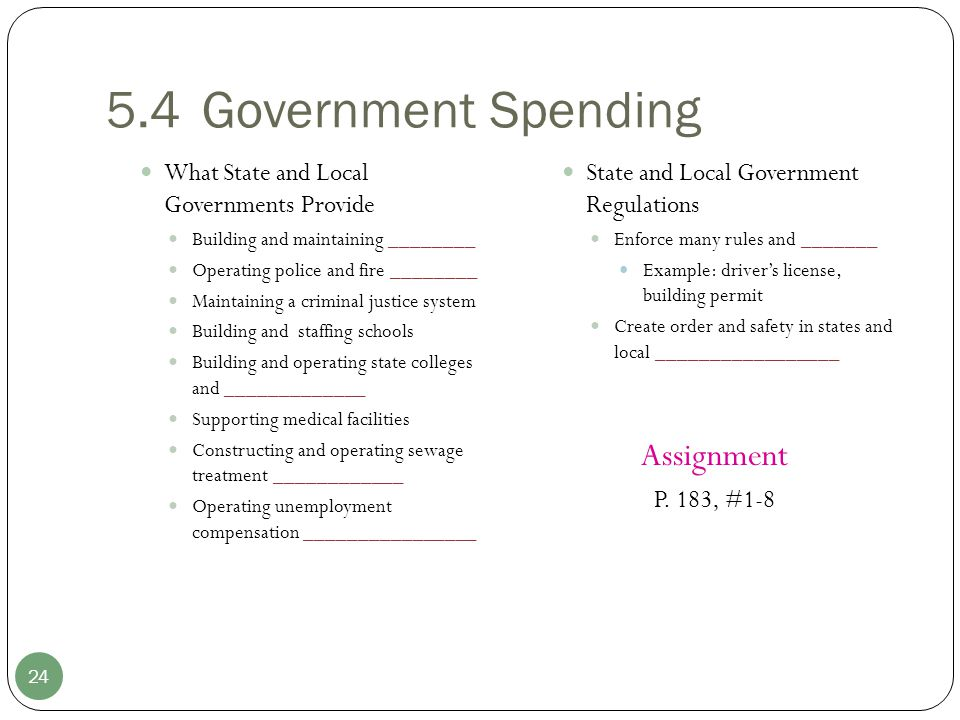 5.4 Government Spending Assignment
