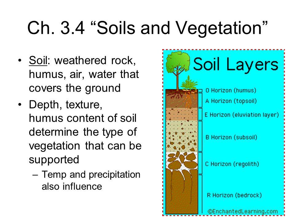 Ch. 3.4 Soils and Vegetation