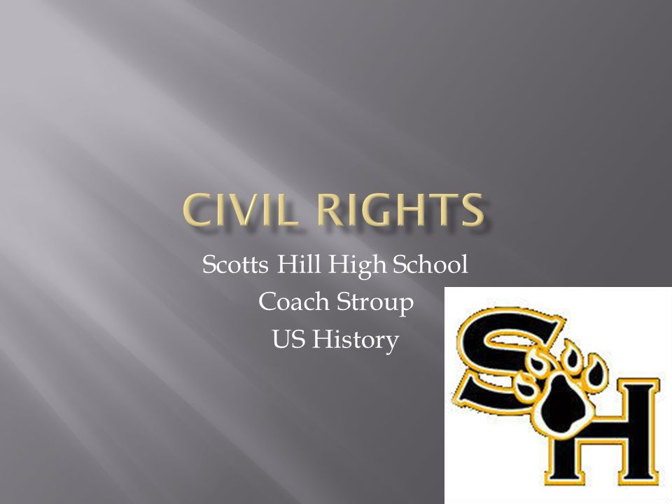 Scotts Hill High School Coach Stroup US History