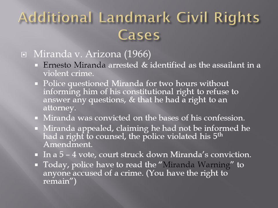 Additional Landmark Civil Rights Cases