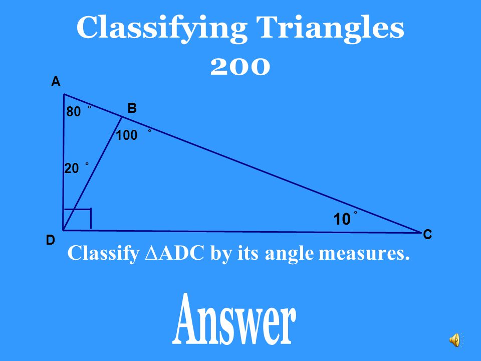 Classifying Triangles 200