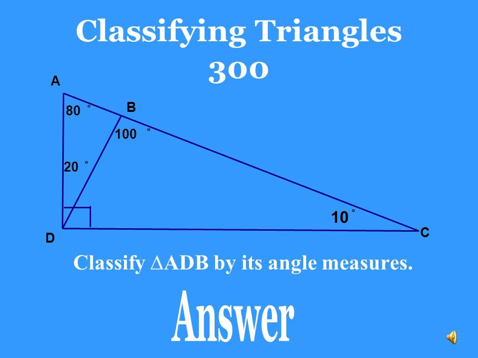 Classifying Triangles 300
