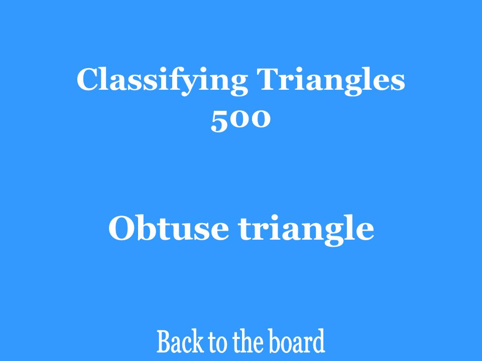 Classifying Triangles 500