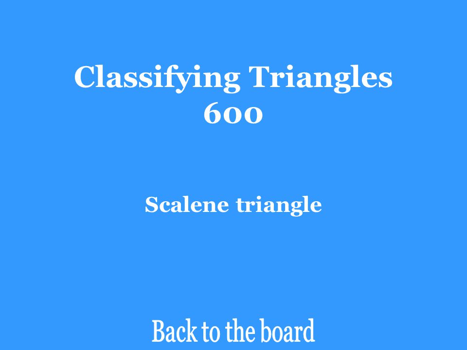 Classifying Triangles 600