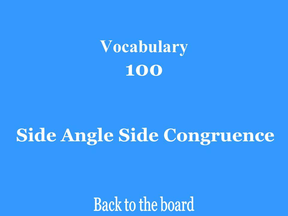 Side Angle Side Congruence