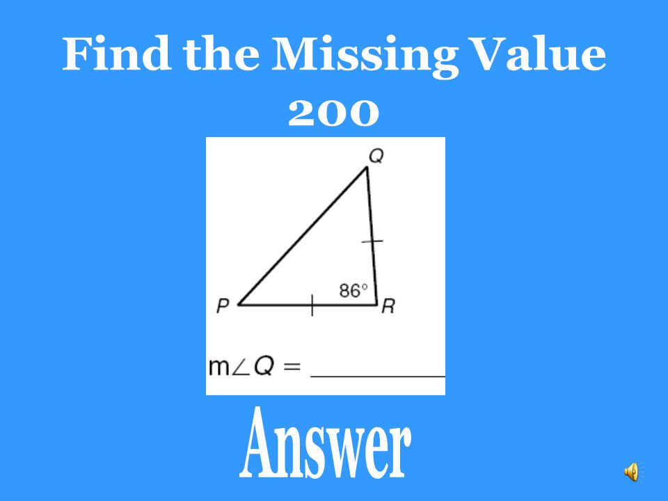 Find the Missing Value 200 Answer